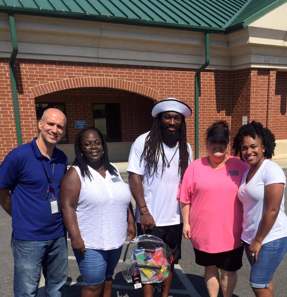 Dannell Ellerbe Backpack Drive